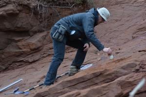 Tim Fedak at the Dinosaur Research Site